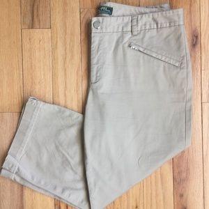 Ralph Lauren Khaki Capri Women's Size 8 EUC